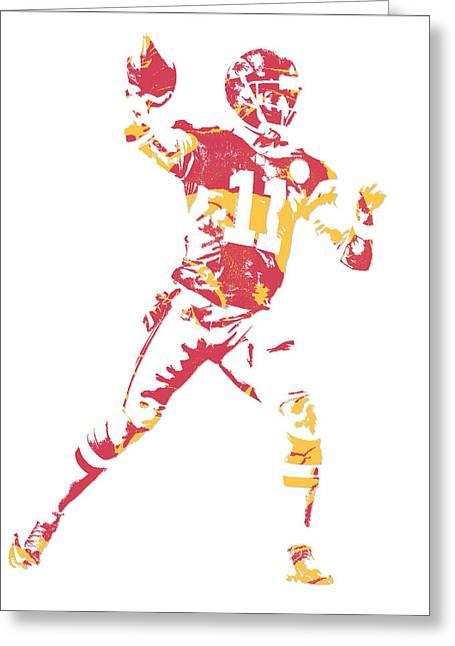 Alex Smith  Kansas City Chiefs Pixel Art Greeting Card