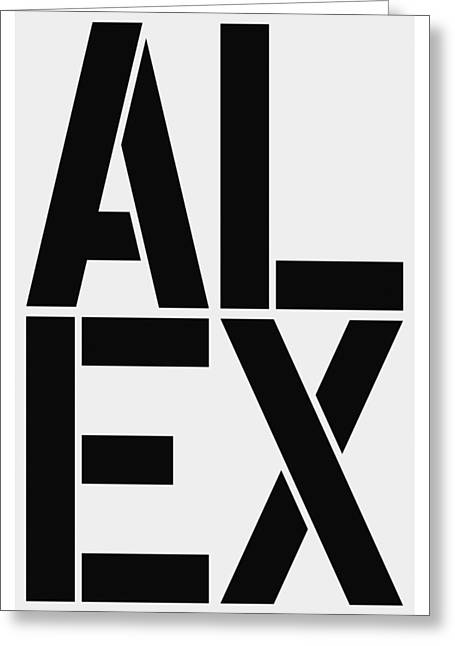 Alex Greeting Card by Three Dots