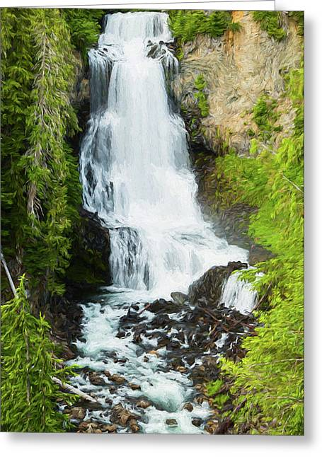 Greeting Card featuring the photograph Alexander Falls - 2 by Stephen Stookey