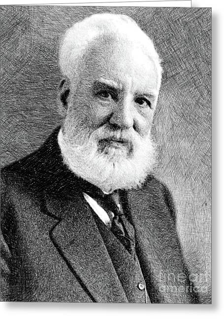 Alexander Graham Bell, Inventor By Js Greeting Card