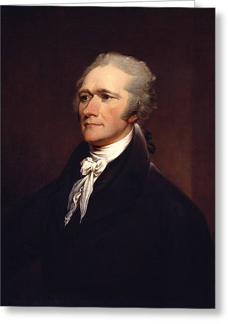 Alexander Hamilton By John Trumbull Greeting Card by War Is Hell Store