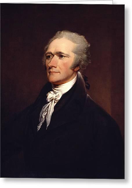 Alexander Hamilton By John Trumbull Greeting Card