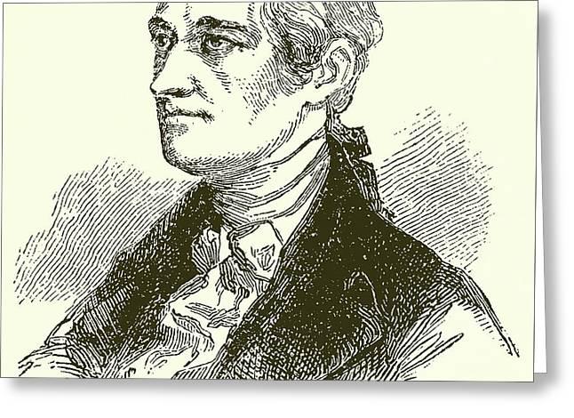 Alexander Hamilton Greeting Card by English School