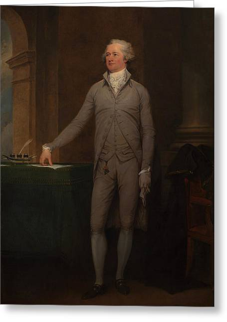 Alexander Hamilton Full-length Portrait Greeting Card by War Is Hell Store