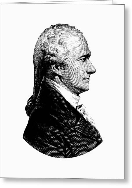 Alexander Hamilton Graphic Portrait  Greeting Card by War Is Hell Store