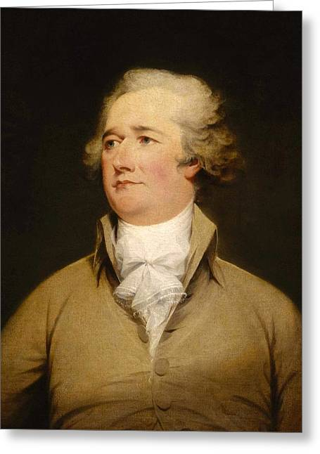 Alexander Hamilton Painting Greeting Card by War Is Hell Store