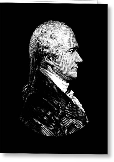 Alexander Hamilton Portrait Greeting Card by War Is Hell Store
