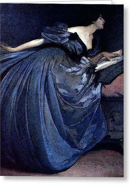 Alexander John White Althea Greeting Card by John White Alexander