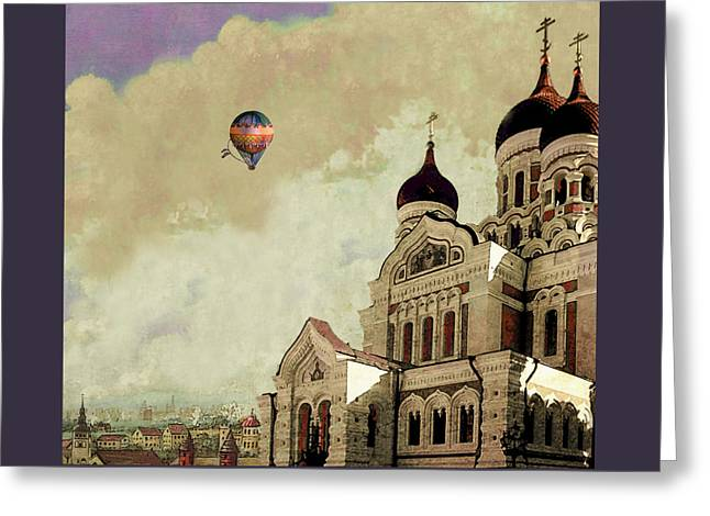 Alexander Nevsky Cathedral In Tallin, Estonia, My Memory. Greeting Card by Jeff Burgess
