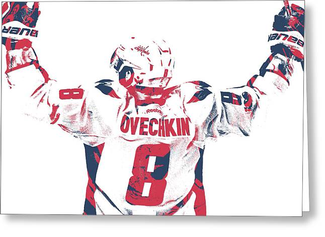 Alexander Ovechkin Washington Capitals Pixel Art 9 Greeting Card