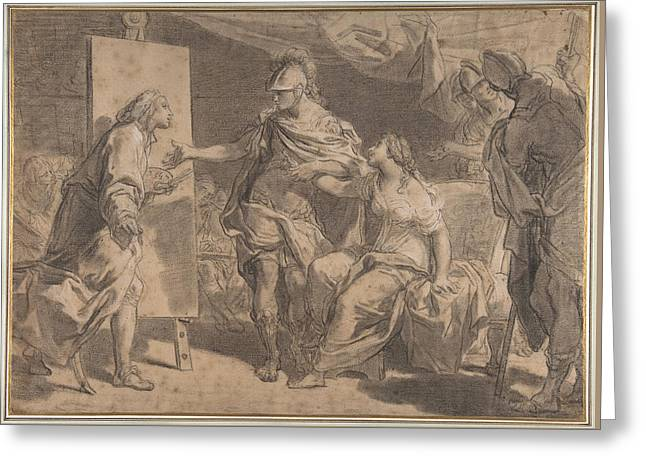 Alexander The Great Offering His Concubine Campaspe To The Painter Apelles Greeting Card