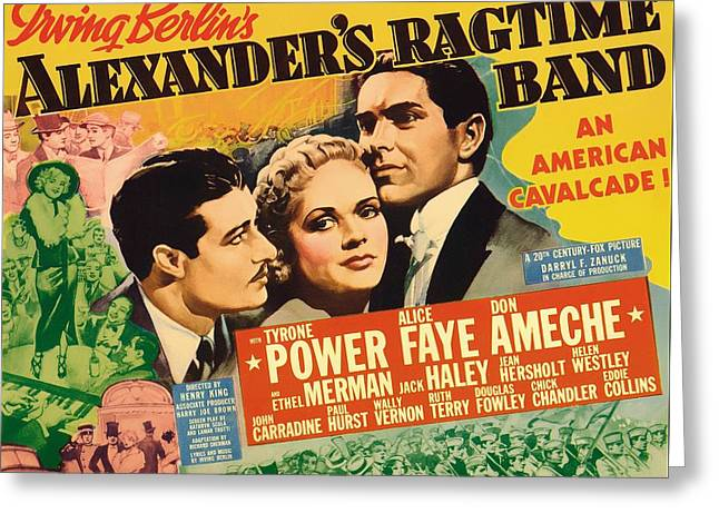 Alexander's Ragtime Band 1938 Greeting Card by Mountain Dreams