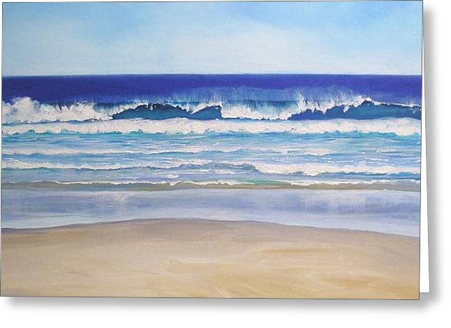 Greeting Card featuring the painting Alexandra Bay Noosa Heads Queensland Australia by Chris Hobel