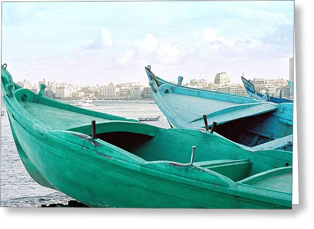 Alexandrian Boats Greeting Card