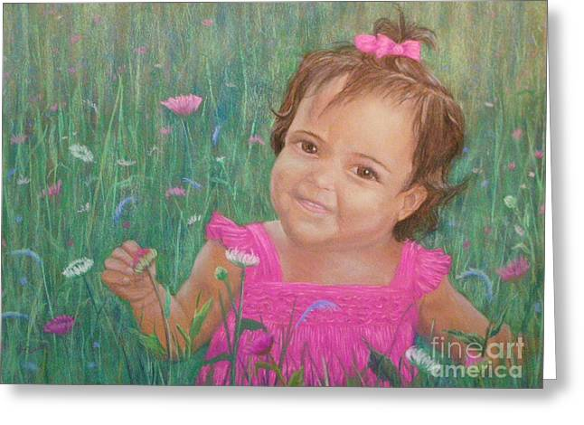 Alexis In Pink Greeting Card