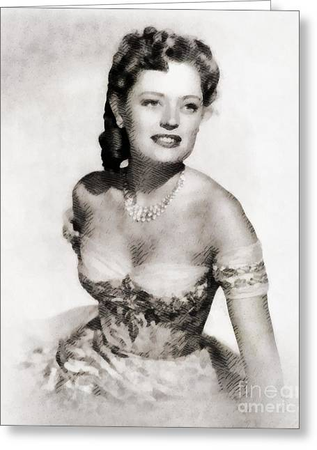 Alexis Smith, Vintage Actress By John Springfield Greeting Card by John Springfield
