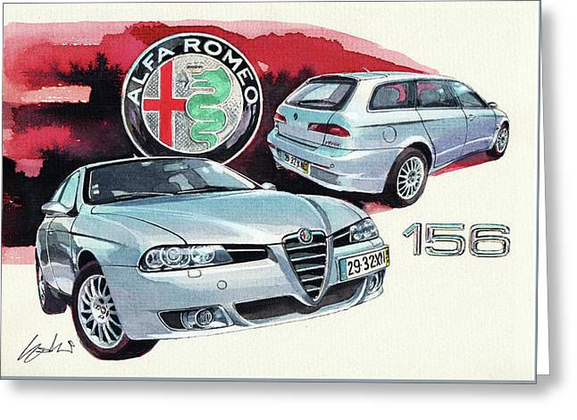 Alfa Romeo 156 Sw Greeting Card