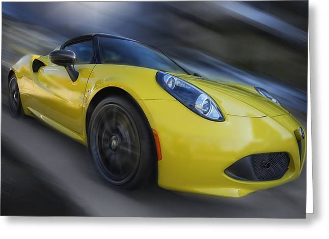 Alfa Romeo 4c Spider Greeting Card by Larry Helms