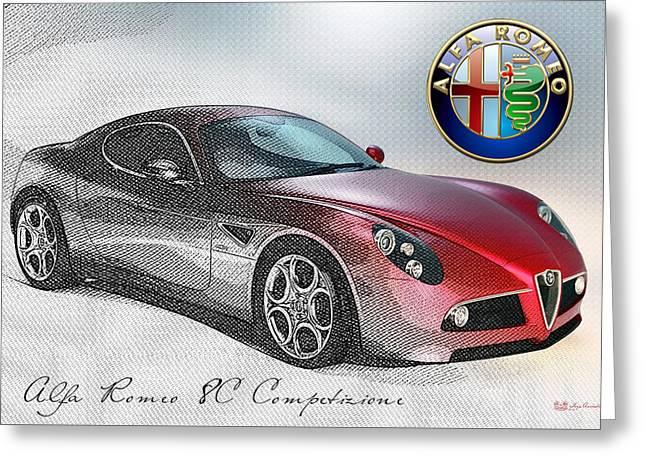 Alfa Romeo 8c Competizione  Greeting Card by Serge Averbukh