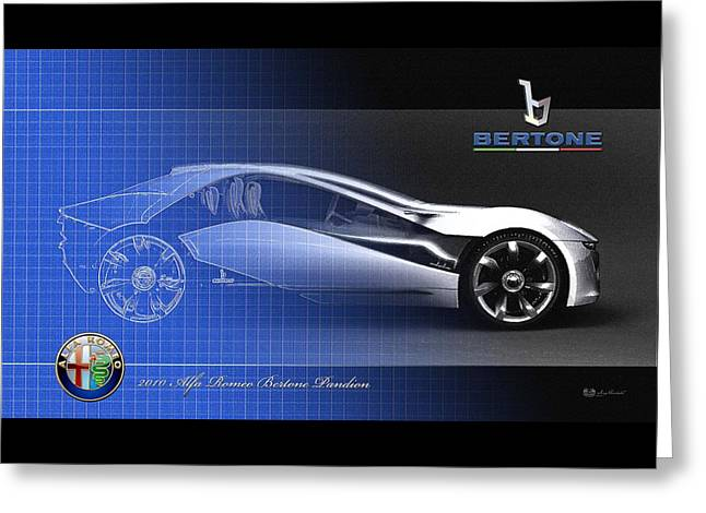 Alfa Romeo Bertone Pandion Concept Greeting Card by Serge Averbukh