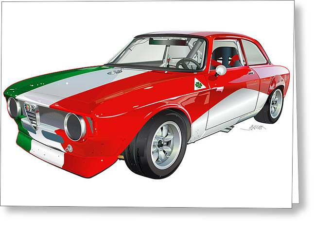 Alfa Romeo Gtv Illustration Greeting Card by Alain Jamar