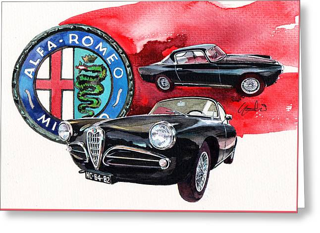 Alfa Romeo Super Sprint C Greeting Card