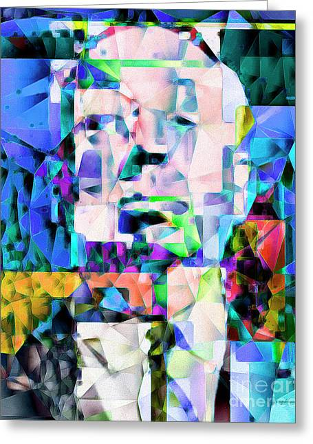 Alfred Hitchcock In Abstract Cubism 20170329ver Greeting Card