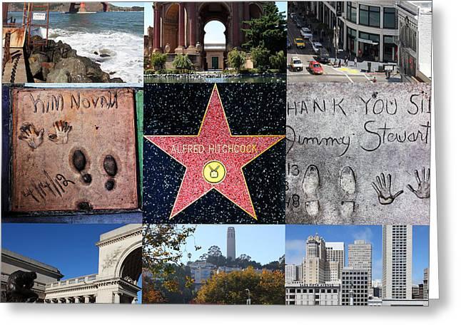 Alfred Hitchcock Jimmy Stewart Kim Novak Vertigo San Francisco 20150608 Greeting Card