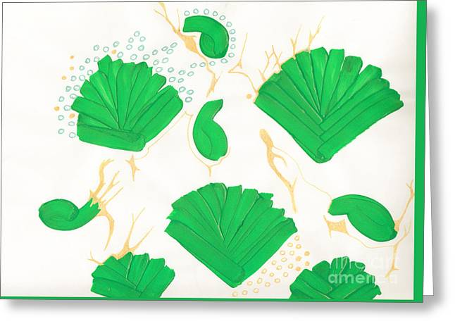 Algae Blooms Greeting Card by Mary Mikawoz