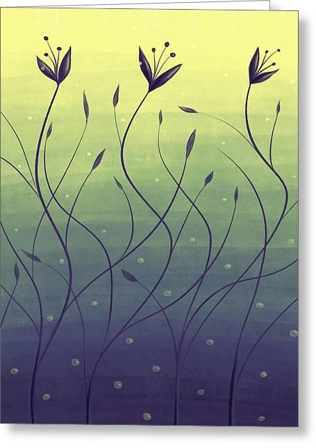 Algae Plants In Green Water Greeting Card