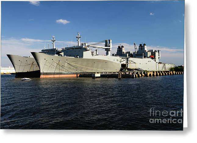 Algol Class Military Cargo Ships Greeting Card by George Oze