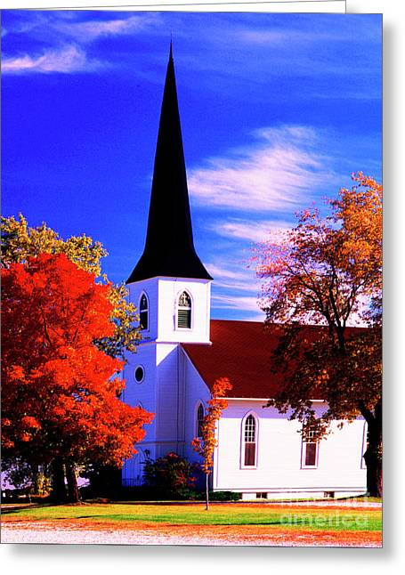 Algonquin Rd Church St Johns United  Greeting Card