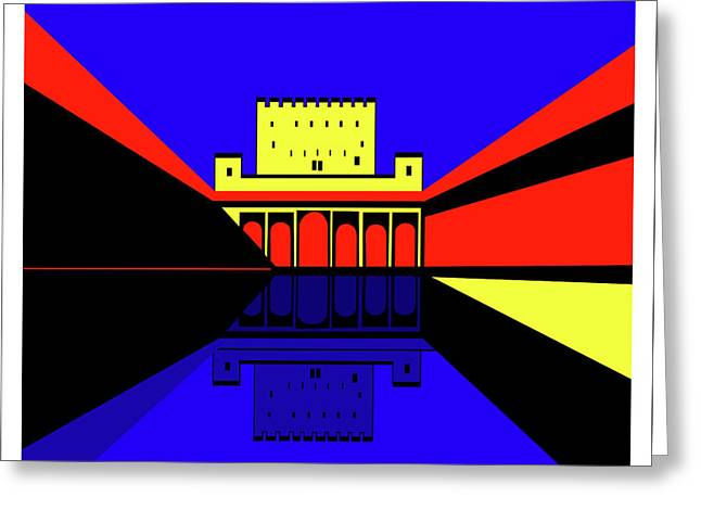 Alhambra Granada Greeting Card by Asbjorn Lonvig