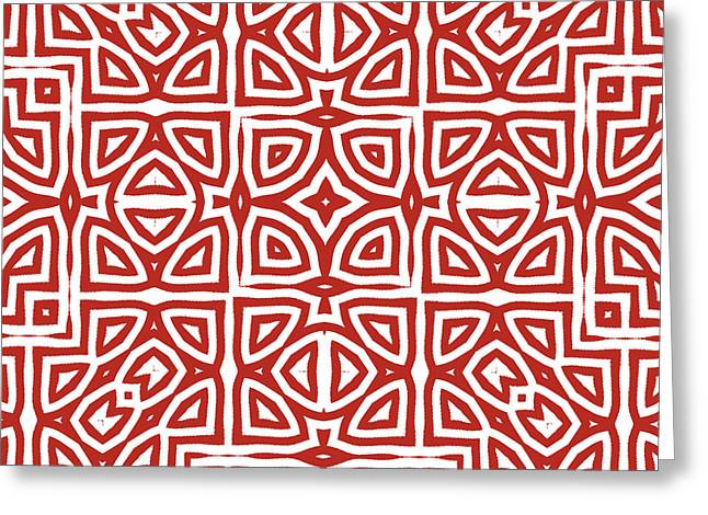 Alhambra Red Greeting Card by Mindy Sommers