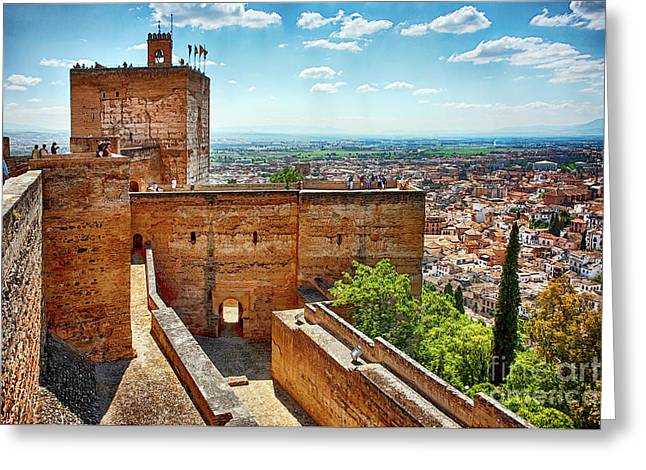 Alhambra Tower Greeting Card