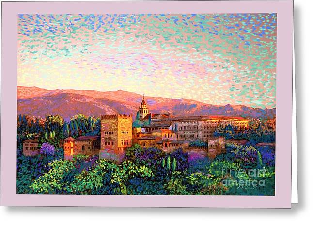 Greeting Card featuring the painting Alhambra, Grenada, Spain by Jane Small