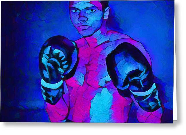 Ali Graphic Abstract Greeting Card by Dan Sproul