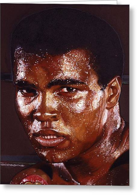 Ali Greeting Card by Tim  Scoggins