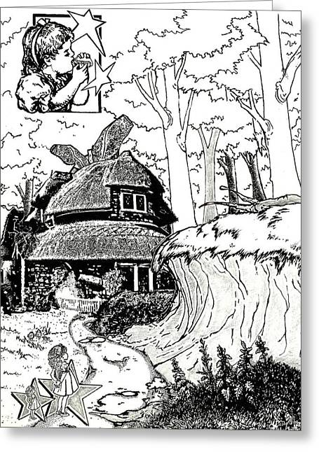 Alice At The March Hare's House Greeting Card by Turtle Caps
