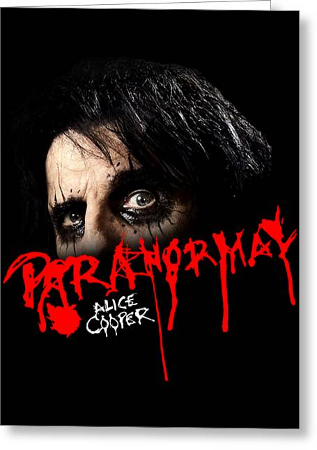 Alice Cooper Paranormal Face Greeting Card