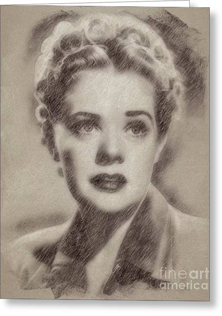 Alice Faye, Actress Greeting Card