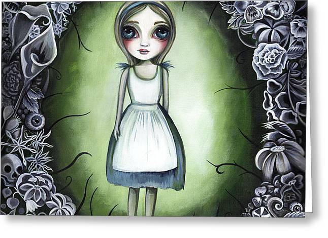 Alice In The Deadly Garden Greeting Card
