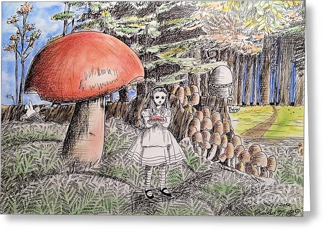 Alice In Wonderland 2 Greeting Card by Keiko Olds