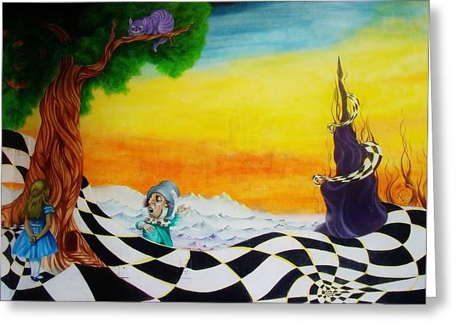 Alice In Wonderland Greeting Card by Ben Christianson