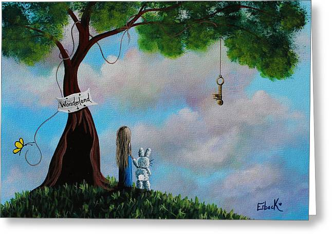 Alice In Wonderland Greeting Card by Shawna Erback