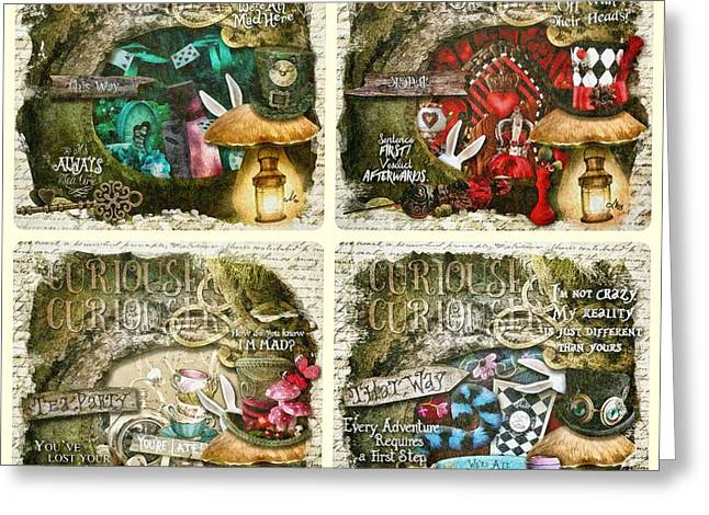 Alice Of Wonderland Series Greeting Card