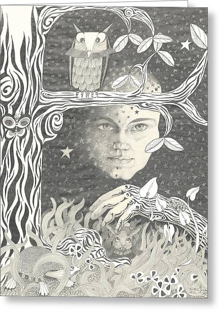 Alice Syndrome Greeting Card by Melinda Dare Benfield