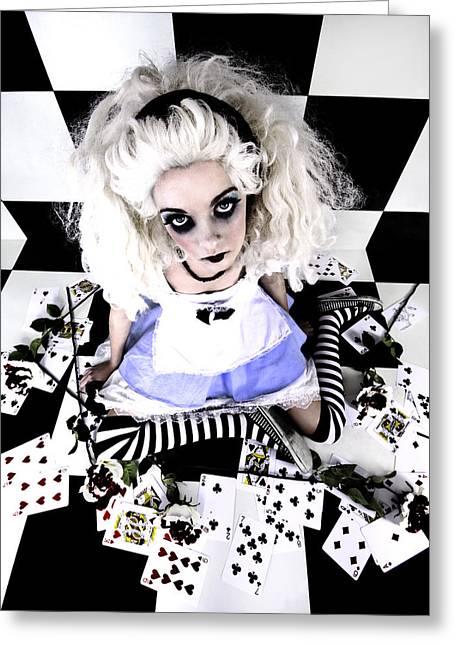 Alice1 Greeting Card by Kelly Jade King