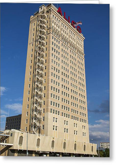 Alico Building Greeting Card by Stephen Stookey
