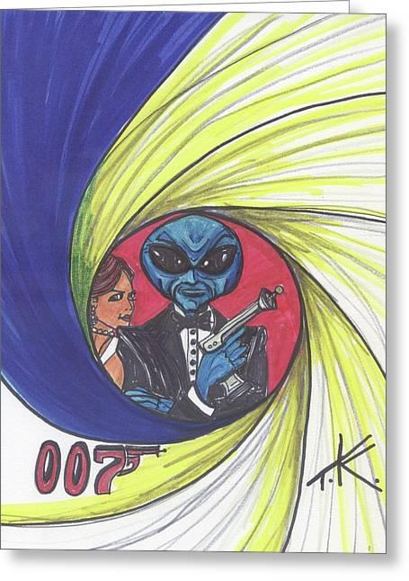 alien Bond Greeting Card